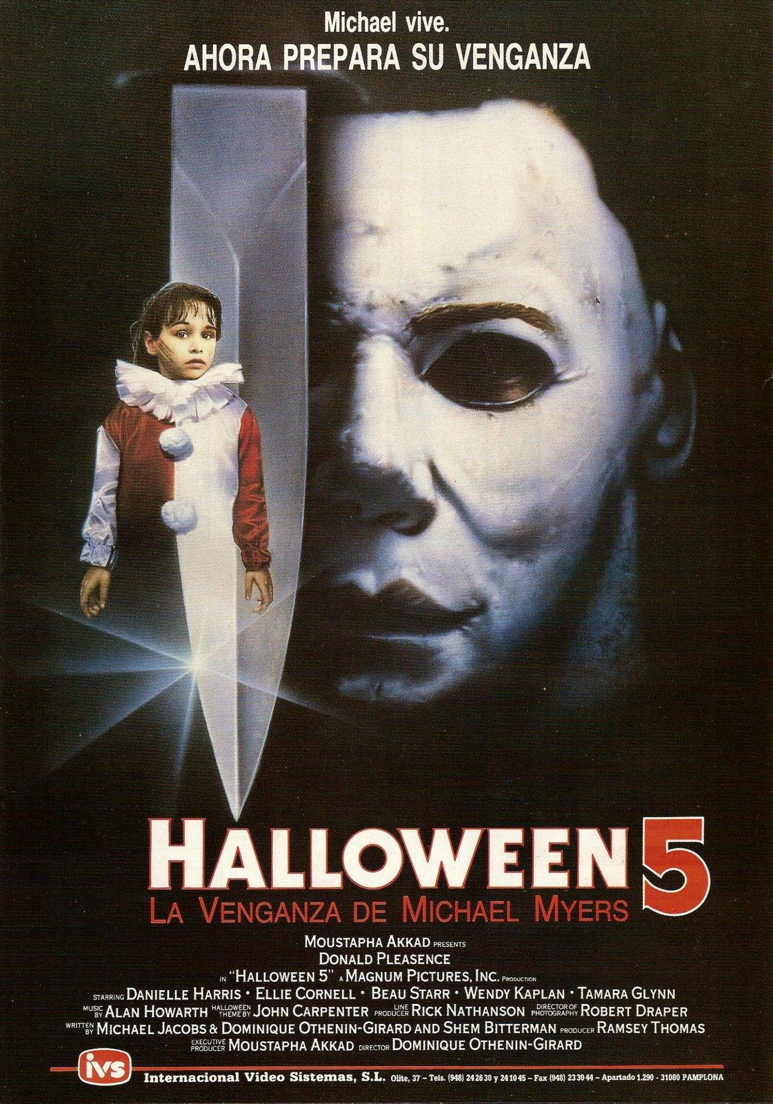 Título original Halloween 5 The Revenge of Michael Myers Año 1989. Duración 96 min. País  Estados Unidos Director Dominique Othenin,Girard